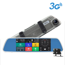 7 Inch 3G Android Full HD Dual-Lens Rearview Mirror Car DVR with GPS