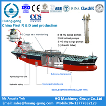 Hydraulic cargo pump system with hydraulic station and control device for chemical tanker China first R&D and manufactor