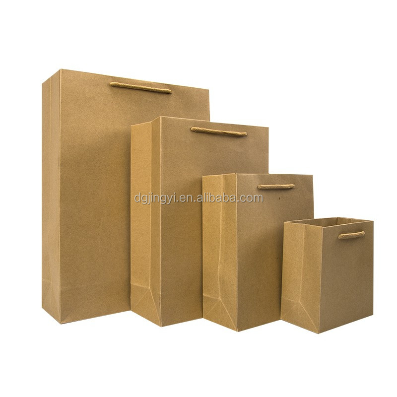 Hot sale brown kraft paper cement bag/promotion paper shopping bag