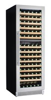 New style Build in/free standing Compressor Wine Coolers / Cellars / Refrigerators 152 bottles dual zone