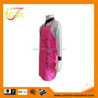 Wholesale Factory Price Peach pink stylish custom cupcake aprons