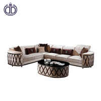 arabic sofa Simple Light Color Corner metal sofa set designs living room sectional crystal furniture sofa set