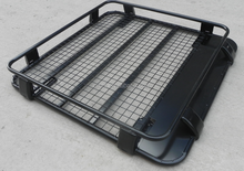 Heavy duty steel roof rack with cross bar fixing on SUV roof rails