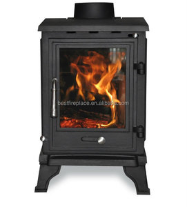European design Cast Iron wood heater fireplace insert wood burning stove