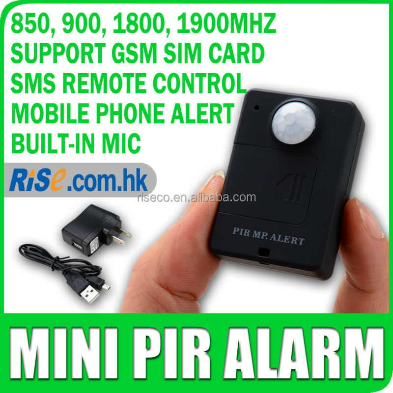 Mini MP Alert Wireless Motion Detection GSM Monitor Infrared Sensor PIR Alarm