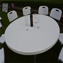 5FT plastic round folding in half table for banquet/picnic/camping/dining/garden