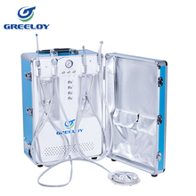 portable turbine dental unit with silence air compressor