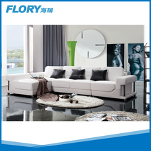 Luxury top grain leather modern corner couch F903