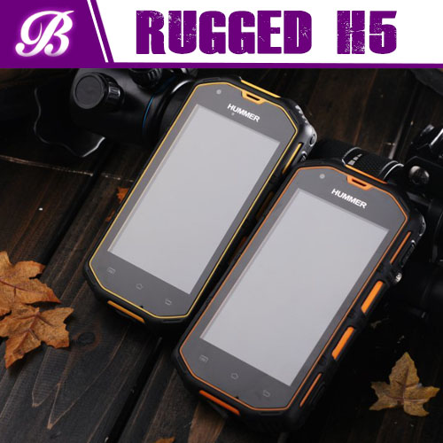 HUMMER H5 4 inch IPS screen android 4.2 512M+4GB MTK6572A dual core rugged waterproof mobile phone