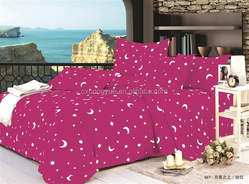 Changxing peach skined Printed 100% Polyester curtain fabric for home textile