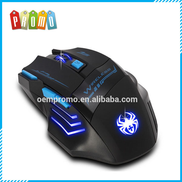 Top quality 2400DPI Optical Wireless Gaming Mouse for Laptop