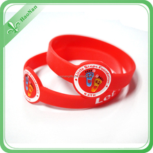 custom high quality durable silicone Eco-Friendly popular cool silicone rubber wristband embossed logo