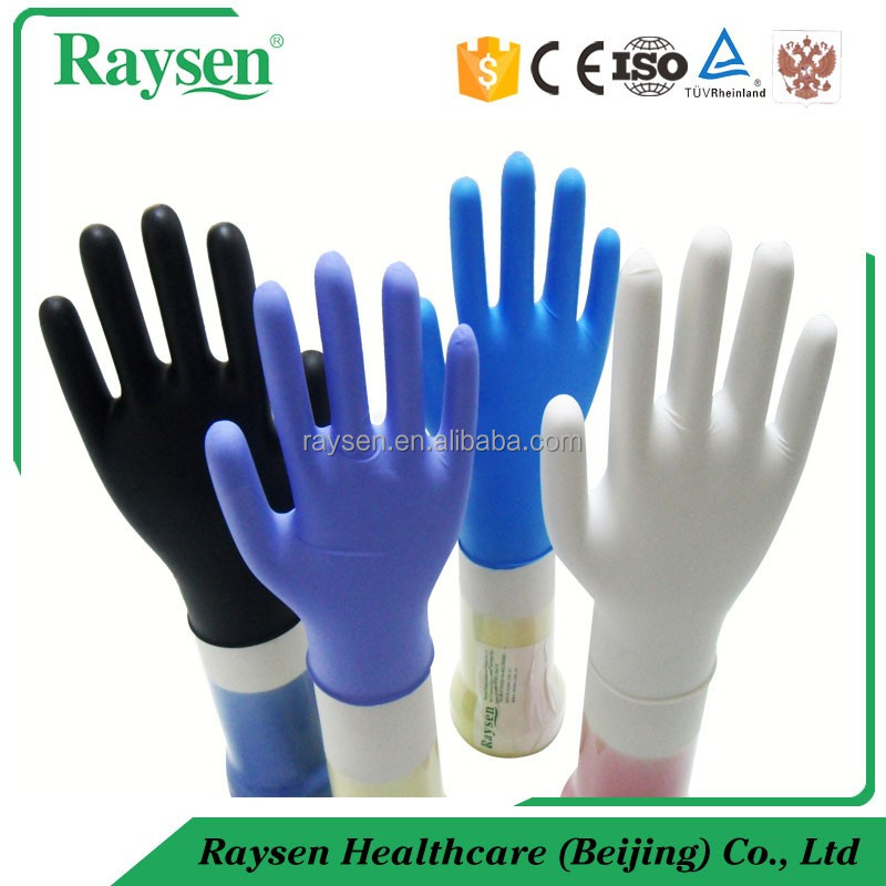 Colored food grade nitrile cheap gloves for electron