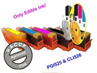 Cartridges with edible ink compatible with PGI525 & CLI526
