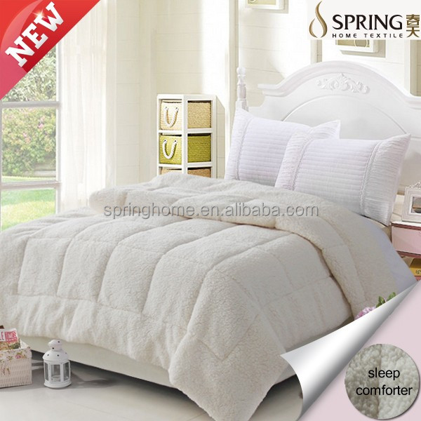 cheap, good quality 100% polyester micorfiber quilt with cotton cover