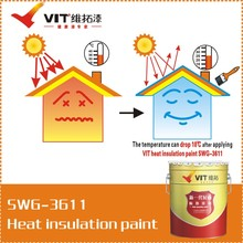 SWG-3611 New generate water-based heat insulation, storage tanks and roof Usage and Liquid Coating State heat insulation paint