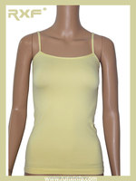 Womens lemon yellow Spaghetti Strap Camisole Base Tank Top ladies seamless camisoles tops