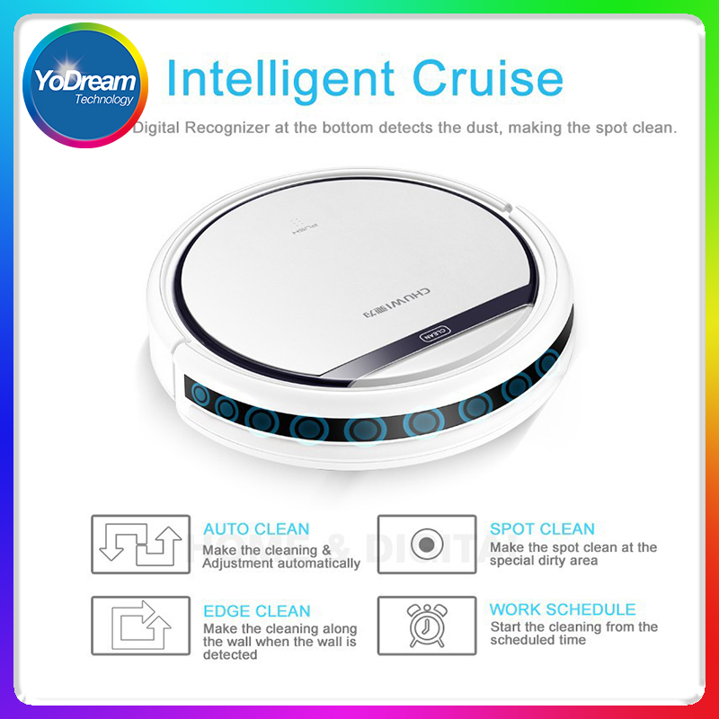 OEM mini robot vacuum cleaner with mop uv light recharging