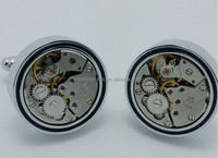 Lovely Pair Steampunk Vintage Watch Movement Mens Cufflinks