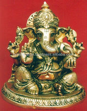 Handcrafted Indian God Ganesha Statue Ganesha Hindu idol Prayer Temple Figurine