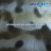 Wave Pattern Emboss Cloudy Design Print Foil Laminated PVC Leather for bags and decoration