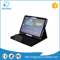 Fashion Design bluetooth leather tablets case with keyboard