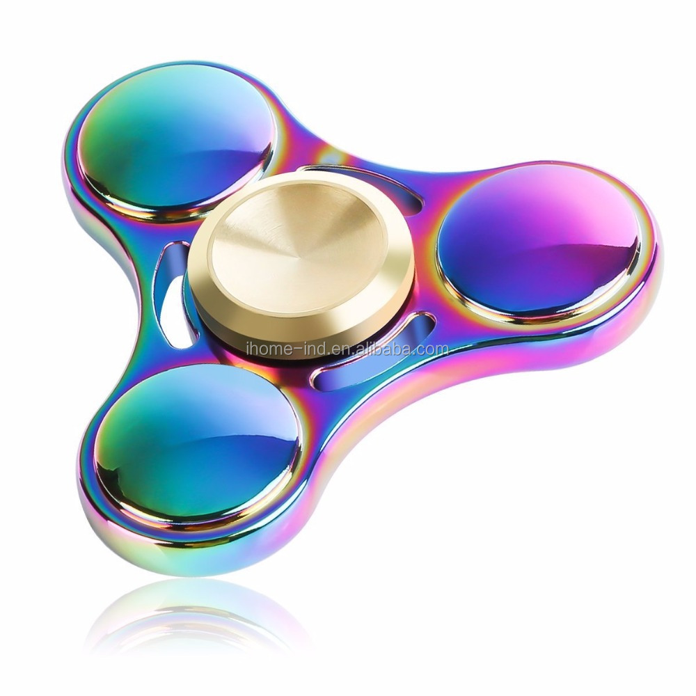 Fidget Spinner of Ultra Durable Stainless Steel Bearing High Speed 3-5 Min Spins Precision wholesale Metal Hand spinner <strong>toys</strong>