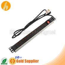 19'' 6 ways 13A switch GBR Type PDU