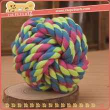 Pet product import ,p0wff cotton rope with tennis ball for sale