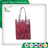 competitive price customized red lace bag sale