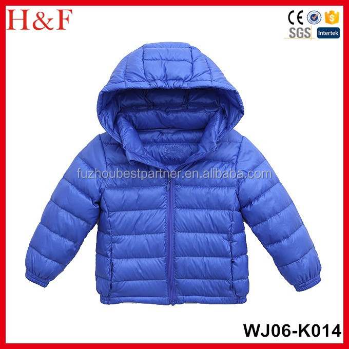 Hot sale winter down jacket childrens wear brand names cheap waterproof jacket