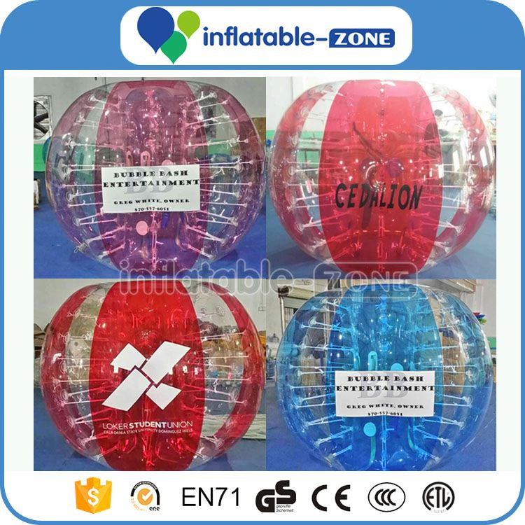 Shinning inflatable bubble football color bubble soccers amazing colorful dots string tie anchor bubble soccer