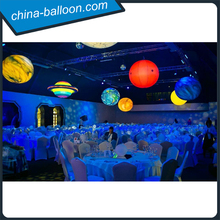 Charming led solar system nine planets/ inflatable planet balloon for decoration