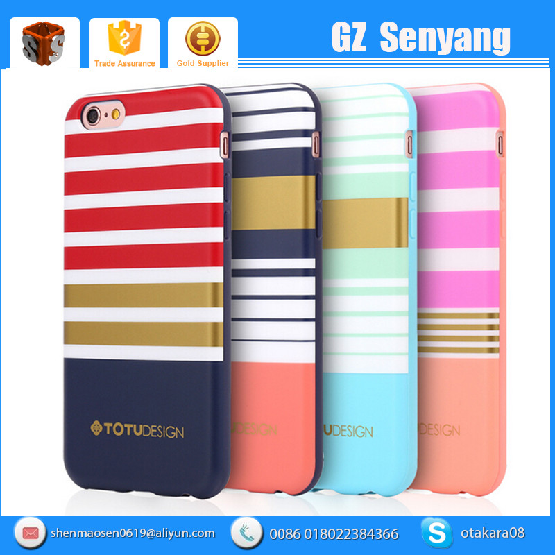 Popular 2016 Hot Sell British style Rainbow TPU Case For Iphone 6