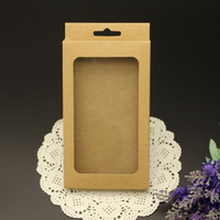 Recycled Materials Functional Paper Cell Phone Case Packaging Box with PVC Clear Window