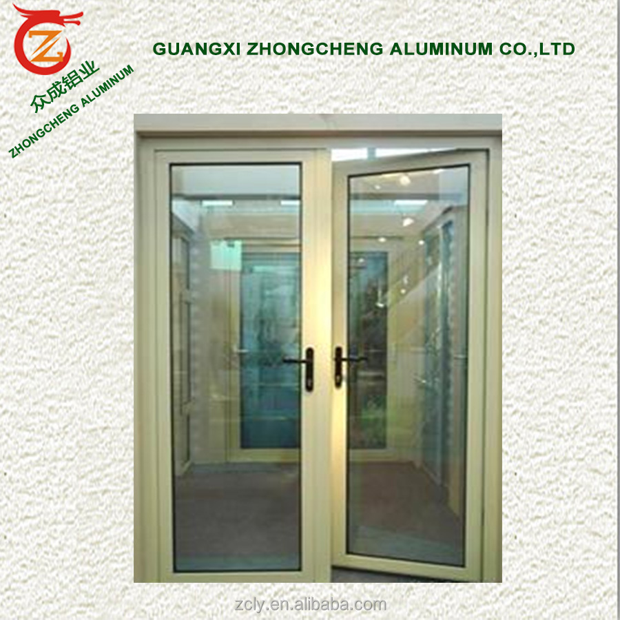 Powder coating aluminum modern exterior door garden swing french door