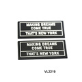 Customized design double colors PVC label patch micro injection rubber patch
