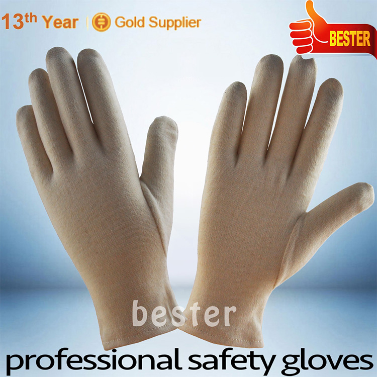 Wholesale Cheap high grade pvc dotted white cotton hand gloves