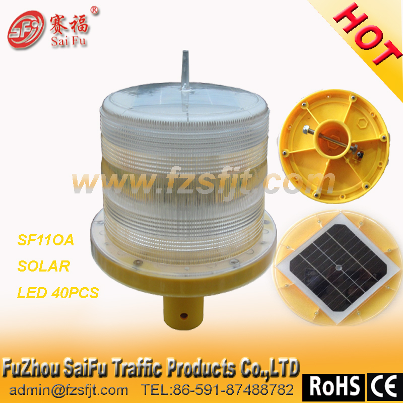 CE CERTIFICATION SOLAR BLINK MARINE LIGHT with 40 pcs LED (used for runway and taxiway BOAT )