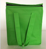 High Quality fashion non woven cooler bag with PVC on the top