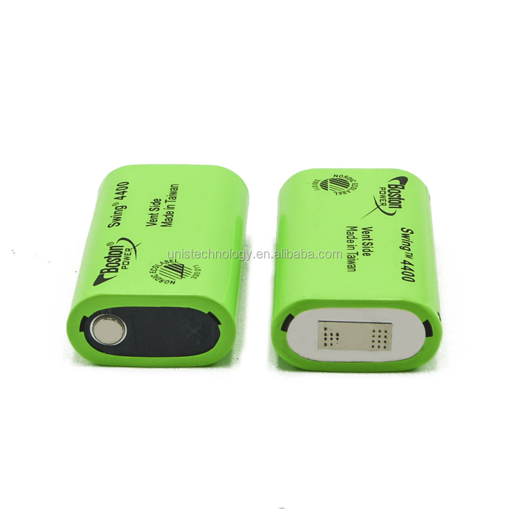 Original Boston Power Swing 4400mah/5300mAh 3.7V 12A low tempeture green color rechargeable lithium battery