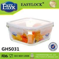 Food grade small wholesale glass food storage container on sale