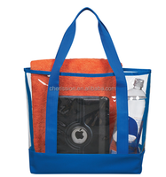 Clear PVC and 600D polyester Casual Tote Bag