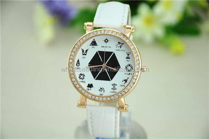 favorite custom rhinestone plain concepts valentine quartz white colour watches