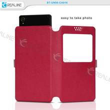 "New design universal mobile phone flip cover,universal leather case,5"" inch leather case"