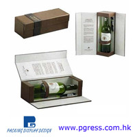 Elegant and highly customizable paper or leatherette packaging wine box
