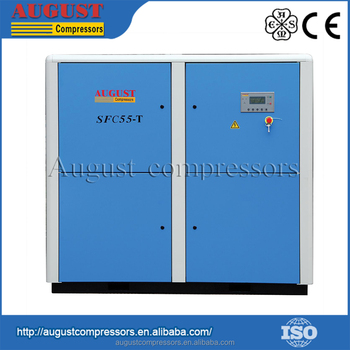 Low Speed Air End Operation Mute Screw Compressor With Inverter