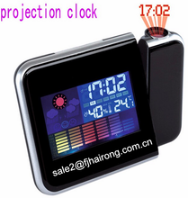 Hairong LED Weather Station Projection Alarm Clock,Digital Projector led alarm Clock