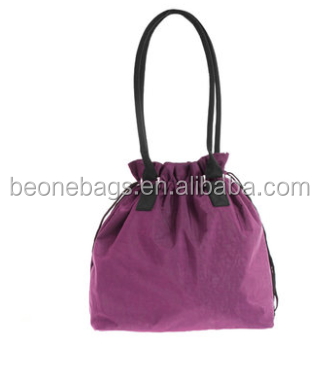 New recycle nylon tote drawstring bags handle bag with drawstring
