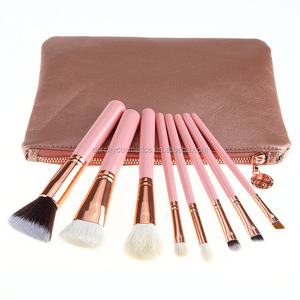 Professional 8pcs Rose gold Good quality Synthetic hair Makeup brush Kit Set
